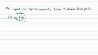 Intermediate Algebra - Logarithms: Properties of Logarithms