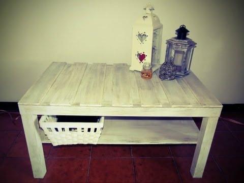 diy - creare l'effetto shabby chic su un tavolo