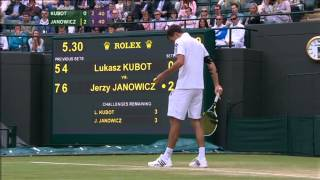 Tennis Highlights, Video - Lukasz Kubot - Jerzy Janowicz Wimbledon 2013 quarter final SET 3 FULL