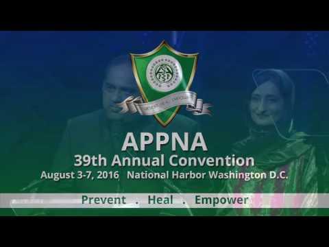 Dr. Iqbal Zafar Hamid & Dr. Talha Siddiqui at APPNA 39th Annual Convention 2016, Washington D.C.