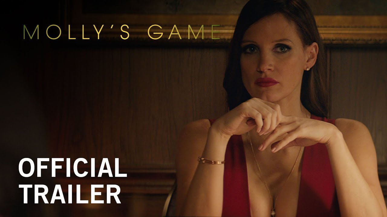 Let's Play. Based on a True Story watch Jessica Chastain in Aaron Sorkin's 'Molly's Game' (Trailer) with Idris Elba & More