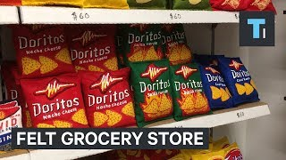 Download Youtube: An artist spent 6 months creating a fake grocery store completely made of felt