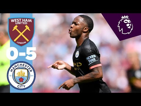 Video: HIGHLIGHTS | West Ham 0-5 Man City | Sterling Hatrick, Gabriel Jesus, Sergio Aguero