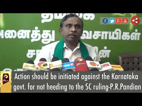 Action-should-be-initiated-against-the-Karnataka-govt-for-not-heeding-to-the-SC-ruling-P-R-Pandian