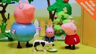 Свинка Пеппа спасает котенка. Мультик из игрушек Свинка Пеппа на русском