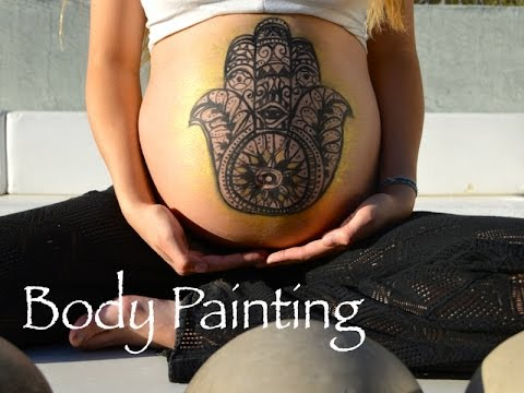 Hamsa Body Painting – Maternity Belly Painting