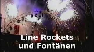 Line Rockets und Fontänen