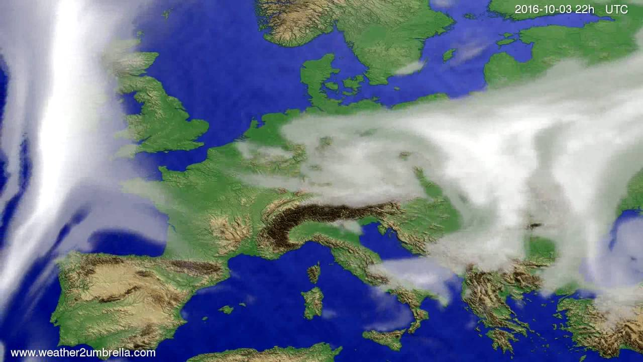 Cloud forecast Europe 2016-10-01