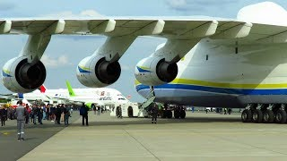 Video ANTONOV AN-225 - CLOSE UP PUSHBACK of WORLDS LARGEST AIRCRAFT at ILA 2018 Air Show! MP3, 3GP, MP4, WEBM, AVI, FLV Desember 2018