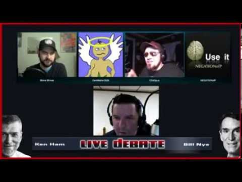 Nye vs Ham Debate Show w/ Darkmatter2525, Steve Shives, more