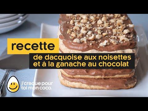 Comment faire une Dacquoise aux noisettes et à la ganache au chocolat