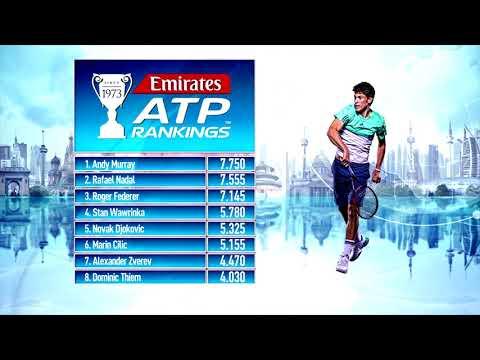 Emirates ATP Rankings Update 14 August 2017