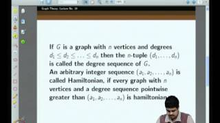 Mod-04 Lec-29 More On Hamiltonicity: Chvatal's Theorem