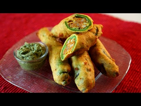 Mirchi Pakora Recipe | Spicy Fritters  Snacks Recipe | Masala Trails With Smita Deo
