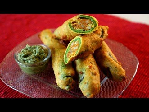Mirchi Pakora Recipe | Spicy Fritters  Snacks Recipe | Masala Trails With Smita Deo