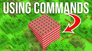 Building with Commands in Vanilla Minecraft 1.15!