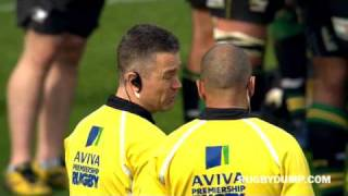 Mark Cueto eyegouge and Neil Briggs red card