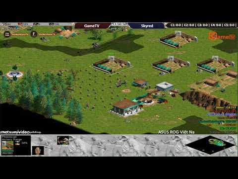 AOE | 4vs4 Random GameTV vs Skyred ngày 1 9 2017.BLV: Myp