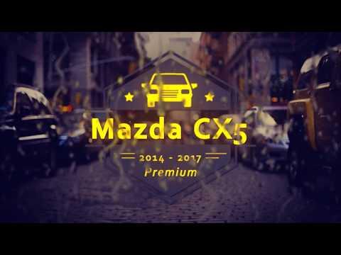 """Чехлы на Mazda CX 5, серии """"Premium"""" - серая строчка"""