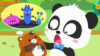 Video Bad Germs on the Bear Doll | Super Bubble Rangers | Doctor Pretend Play | Kids Good Habits | BabyBus MP3, 3GP, MP4, WEBM, AVI, FLV Juli 2019