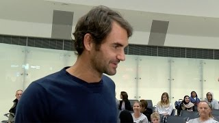 Roger Federer arrived in Perth late last night to begin his preparations for the 2017 Mastercard Hopman Cup.