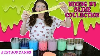 Today I mixed my slime collection together to make one giant slime smoothie!! Having used gallons of glue, food coloring to make ...