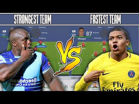 STRONGEST TEAM 💪 VS FASTEST TEAM ⚡ FIFA 19 EXPERIMENT! DOGGY FORFEIT!