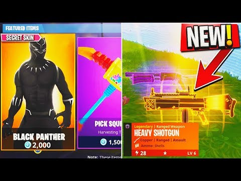 new secret black panther skin new legendary weapon in fortnite fortnite - fortnite mystery skin