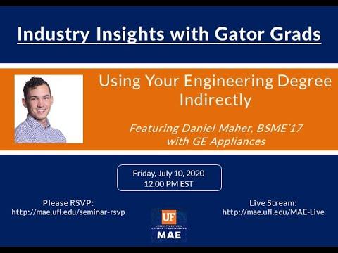 MAE Speaker Series: Industry Insights from Gator Grads (Episode 7 - GE Appliances)