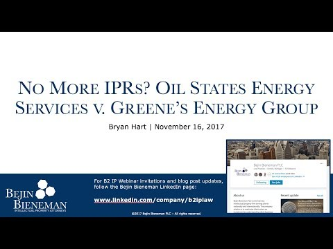No More IPRs? Oil States…