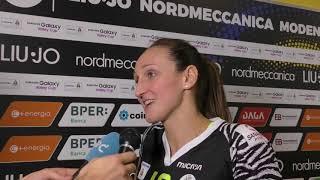 Liu Jo Modena-Pesaro 3-0, le parole di Raffaella Calloni