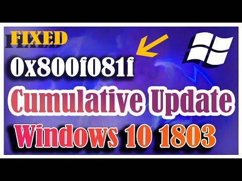 Error 0x800f081f - Cumulative Update for Windows 10 Version 1803 for x64 based Systems KB4467702