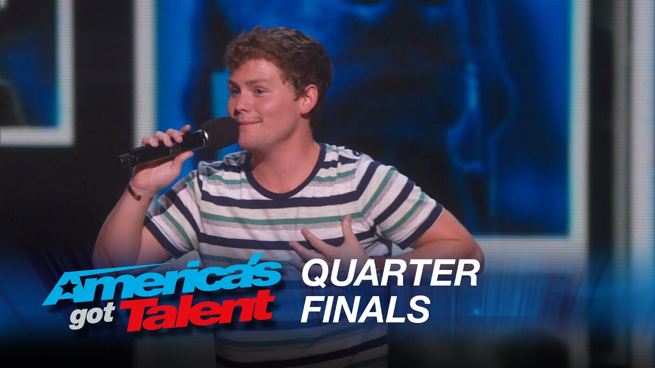 Drew Lynch: Stuttering Comedian Jokes About His Service Dog – America's Got Talent 2015 #AGT