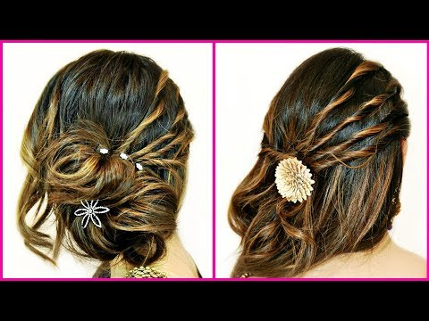 Hairstyles for short hair - सिर्फ 2 Mins में बनाएं यह सुन्दर Hairstyles - Hair Styling Tutorial for Beginners  Anaysa