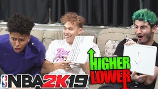 2HYPE TRIES NBA 2K PLAYER RATING HIGHER OR LOWER CHALLENGE!