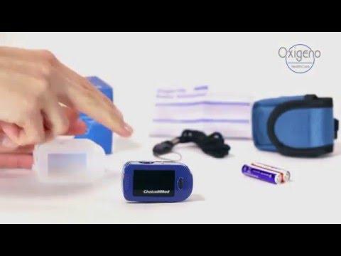 Finger Pulsoximeter von Oxigeno Healthcare  - Gebrauchsanleitung  Anzeige