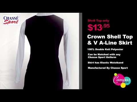 campusteamwearvideos - Chasse's stylish new uniform shell tops and uniform skirts are fashionable, functional and bound to have you cheering all season long! Double knit uniform sh...
