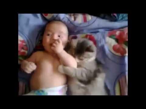 gatto e bambino... si fanno le fusa!