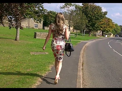 transvestite - A recent day out in Stanhope County Durham, on my holidays I love my new dress and heels x.