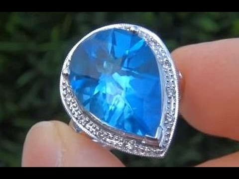 Top Gem Quality London Blue Topaz Ring from $2 Million Dollar Jewelry Collection