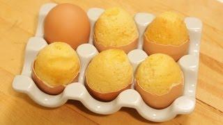 Bake A Cake Inside An Egg - YouTube