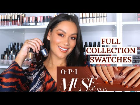 OPI MUSE OF MILAN COLLECTION SWATCHES AND REVIEW | Beauty's Big Sister