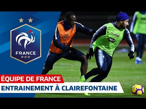 Video Les Bleus à l'entraînement à Clairefontaine, Equipe de France I FFF 2018 download in MP3, 3GP, MP4, WEBM, AVI, FLV January 2017