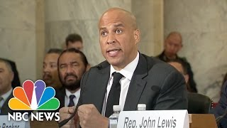 Senator Cory Booker Testifies Against Senator Jeff Sessions In Confirmation Hearing   NBC News