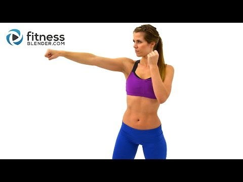 Cardio Kickboxing Workout to Burn Fat at Home – 25 Minute Kickboxing Cardio Interval Workout