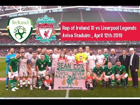 Rep Of Ireland XI Vs Liverpool FC Legends, Friday April 12th 2019, Aviva Stadium Dublin