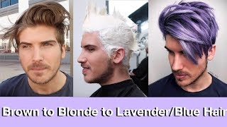 Video Brown to Blonde to Blue/Lavender Hair Transformation MP3, 3GP, MP4, WEBM, AVI, FLV Juli 2018