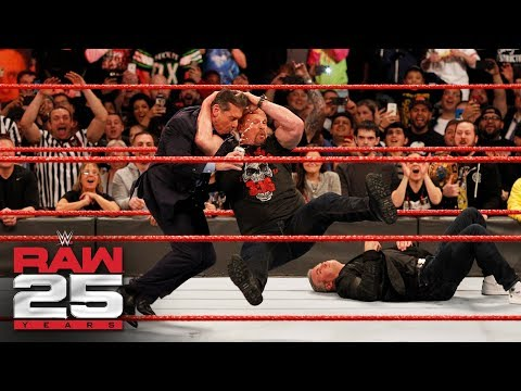 Stone Cold Steve Austin Stuns Shane And Mr McMahon Raw 25 Jan 22 2018 Share