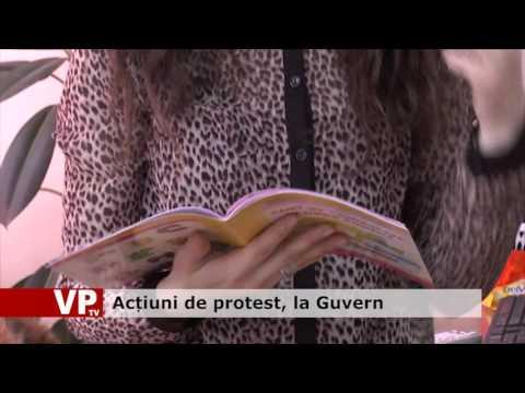 Acțiuni de protest, la Guvern
