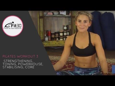 Pilates workout – Strengthening and toning